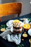 Пирожное поленики Крупный план cream торта предусматриванного с raspberr Стоковые Изображения RF