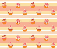 Пирожное предпосылки розовое Стоковое Изображение RF