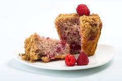 Пирожное при свежая поленика изолированная на белизне Булочка на плите с ягодами Стоковое Фото