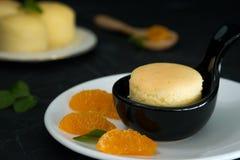 Пирожное сыра YuZu оранжевое японское Стоковое Изображение RF