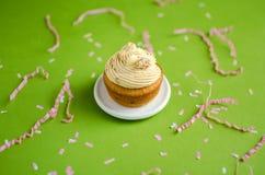 Пирожное с белой сливк шоколада Стоковая Фотография