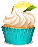 Пирожное с сливк и лимоном иллюстрация вектора