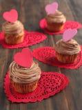 Пирожное шоколада Валентайн Стоковые Изображения RF