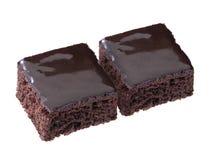Пирожное шоколада изолированное на белой предпосылке Стоковая Фотография
