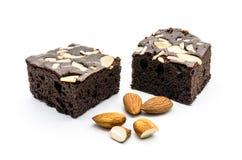 Пирожное шоколада миндалины Стоковое Изображение RF