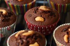 Пирожное шоколада с вилкой Стоковые Изображения