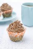 Пирожное шоколада с сливк шоколада Стоковые Фото