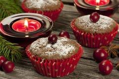 Пирожное шоколада с ягодой Стоковые Изображения RF