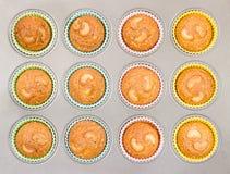 Пирожные анакардии в подносе выпечки Стоковая Фотография RF