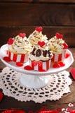 Пирожные валентинки Стоковое Фото