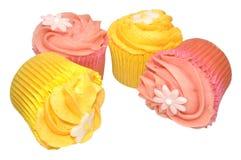 Пирожные вкуса лимона и клубники Стоковое Фото