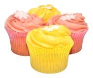 Пирожные вкуса лимона и клубники Стоковое Изображение RF