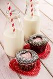 Пирожные выреза сердца дня валентинок Стоковое Фото
