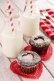 Пирожные выреза сердца дня валентинок Стоковая Фотография