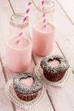 Пирожные выреза сердца дня валентинок Стоковые Изображения RF