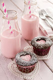 Пирожные выреза сердца дня валентинок Стоковое фото RF
