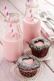 Пирожные выреза сердца дня валентинок Стоковое Изображение
