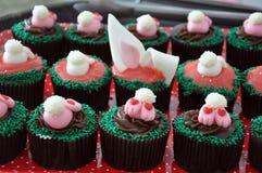 Пирожные зайчика пасхи шоколада Стоковое Изображение