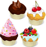 Пирожные и булочки Стоковое Фото