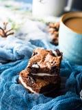 Пирожные и кофе плавленого сыра с молоком Стоковое Фото