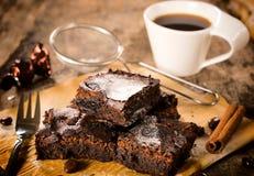 Пирожные и кофе Стоковые Изображения