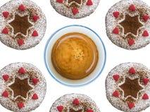 Пирожные и кофе Стоковые Изображения RF
