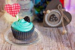 Пирожные на день ` s валентинки Место в тексте Стоковые Изображения RF