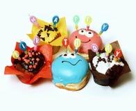 Пирожные дня рождения Стоковая Фотография