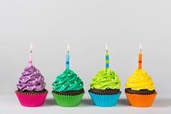 Пирожные дня рождения Стоковое Фото