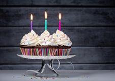 Пирожные дня рождения Стоковое Изображение