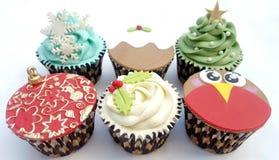 Пирожные рождества смешали 6 дизайнов стоковое фото