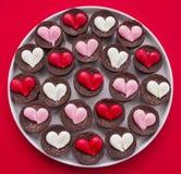 Пирожные сердца Стоковые Изображения RF