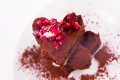Пирожные сердца форменные Стоковое Изображение