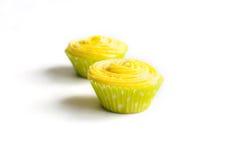 Пирожные с желтой сливк сыра Стоковые Фото