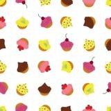 Пирожные с различными отбензиниваниями и декоративными элементами бесплатная иллюстрация
