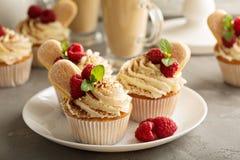 Пирожные тирамису с сливк mascarpone Стоковая Фотография RF