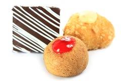 Пирожные чизкейка с поленикой стоковое фото
