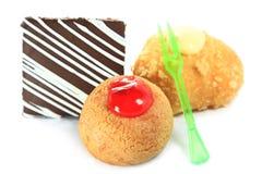 Пирожные чизкейка с поленикой стоковые фото
