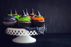 Пирожные шляпы ведьмы Стоковые Изображения