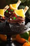 Пирожные шоколада оранжевые для рождества Стоковое фото RF