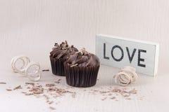 2 пирожные шоколада и шоколада брызгают Стоковое Фото