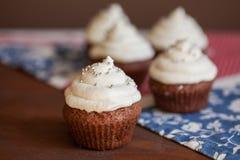 Пирожные шоколада с замораживать плавленого сыра Стоковые Фото