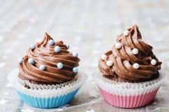 Пирожные шоколада с красочным брызгают Стоковое фото RF