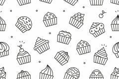 пирожня делают по образцу безшовное Стоковые Изображения