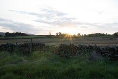 Пирофакел захода солнца стоковые изображения rf