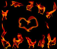 пирофакел пожара предпосылки черный Стоковая Фотография