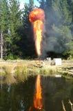 Пирофакел газа Стоковое Изображение