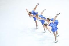 Пируэт старшия снежинок Загреба команды Стоковое фото RF