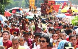 Пиршество черного Nazarene в Манила, Филиппиныы Стоковое Изображение