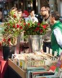 Пиршество Sant Jordi в Барселоне, Испании Стоковые Изображения RF